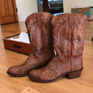 Lucchese Shoes - NEW Lucchese Diego ostrich inlay men's boots